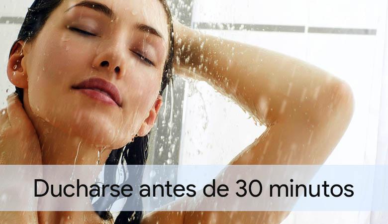 Se deben esperar 30 minutos antes de ir al baño
